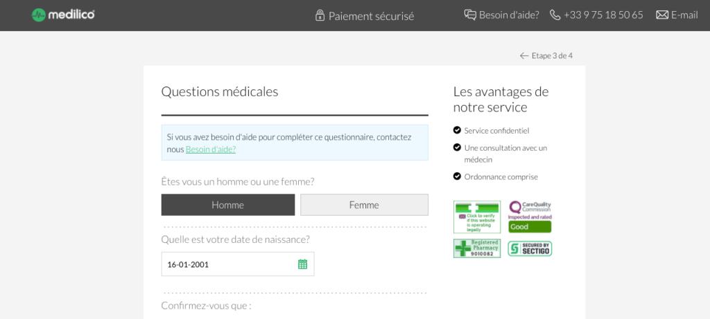 medilico questions medicales